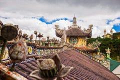Παγόδα γυαλιού πορσελάνης Phuoc Linh στη DA Lat, Βιετνάμ Στοκ φωτογραφίες με δικαίωμα ελεύθερης χρήσης