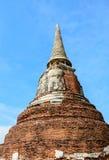Παγόδα και μπλε ουρανός Ayutthaya στην Ταϊλάνδη 2 Στοκ φωτογραφία με δικαίωμα ελεύθερης χρήσης