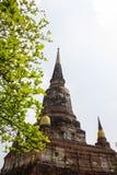 Παγόδα σε Wat Yai Chaimongkol, Ayutthaya, Ταϊλάνδη Στοκ εικόνα με δικαίωμα ελεύθερης χρήσης