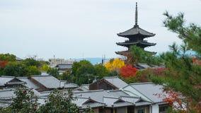 Παγόδα στην Ιαπωνία, νεφελώδη Στοκ φωτογραφίες με δικαίωμα ελεύθερης χρήσης