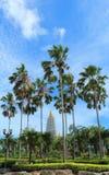 Παγόδα στον κήπο του ταϊλανδικού ναού Στοκ φωτογραφίες με δικαίωμα ελεύθερης χρήσης