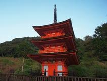 Παγόδα στο ναό kiyomizu-Dera Στοκ εικόνα με δικαίωμα ελεύθερης χρήσης