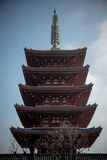 Παγόδα του ναού Senso-senso-ji Στοκ Εικόνες