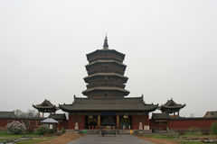 Παγόδα Sakyamuni του ναού Fogong - Yingxian - Κίνα Στοκ φωτογραφίες με δικαίωμα ελεύθερης χρήσης