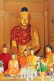 Παγόδα Shwedagon, άγαλμα Yangon Βούδας, το Μιανμάρ Στοκ Φωτογραφίες