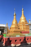 Παγόδα Sutaungpyei στην κορυφή του Hill του Mandalay Στοκ εικόνες με δικαίωμα ελεύθερης χρήσης