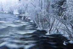 Παγώνοντας ορμητικά σημεία ποταμού Στοκ φωτογραφίες με δικαίωμα ελεύθερης χρήσης