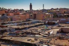 Παζάρι στεγών στο Μαρακές Στοκ Εικόνες