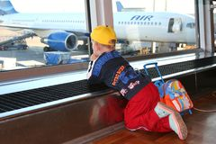 παιδί αερολιμένων Στοκ εικόνες με δικαίωμα ελεύθερης χρήσης