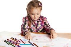 Παιδί - εικόνα χρωμάτων καλλιτεχνών Στοκ Φωτογραφία