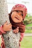 παιδί ευτυχής μουσουλ&m Στοκ Εικόνα