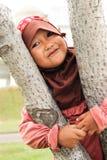 παιδί ευτυχής μουσουλ&m Στοκ φωτογραφία με δικαίωμα ελεύθερης χρήσης
