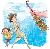 παιδί κατάχρησης διανυσματική απεικόνιση