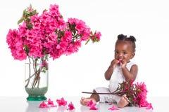 Παιδί λουλουδιών στοκ εικόνες