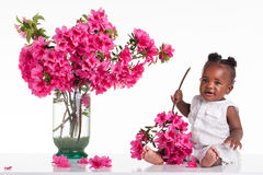 Παιδί λουλουδιών Στοκ φωτογραφία με δικαίωμα ελεύθερης χρήσης
