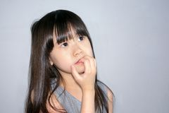 Παιδί με το δίλημμα Στοκ Εικόνες
