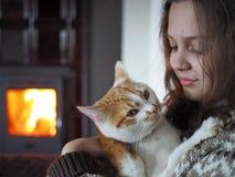 Παιδί με το κατοικίδιο ζώο Στοκ Φωτογραφία