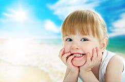 παιδί παραλιών Στοκ Φωτογραφία