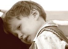 παιδί που κουράζεται Στοκ Εικόνες