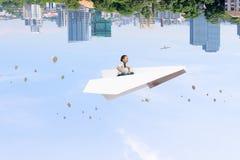 Παιδί που ονειρεύεται για να είναι πειραματικός Μικτά μέσα Στοκ Εικόνες