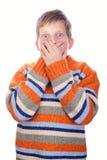 παιδί σημαδεμένο Στοκ Εικόνα
