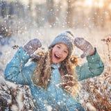 Παιδί στο χειμώνα Στοκ Φωτογραφία