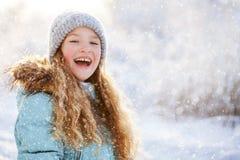 Παιδί στο χειμώνα Στοκ Φωτογραφίες