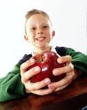 Παιδί της Apple. Στοκ εικόνα με δικαίωμα ελεύθερης χρήσης