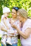 παιδί grandmom mom Στοκ Εικόνες