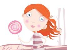 παιδί lollipop απεικόνιση αποθεμάτων