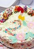 παιδί s κέικ γενεθλίων Στοκ Εικόνες