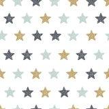 Παιδαριώδες άνευ ραφής σχέδιο με τα αστέρια Δημιουργική σύσταση για το ύφασμα ελεύθερη απεικόνιση δικαιώματος