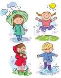 Παιδιά άνοιξη διανυσματική απεικόνιση