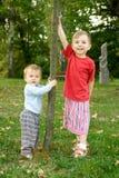 παιδιά δύο νεολαίες Στοκ Φωτογραφία