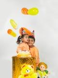 παιδιά Ινδός γενεθλίων στοκ εικόνες