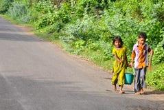 παιδιά Ινδός Στοκ Εικόνες