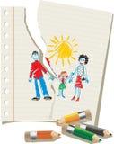 Παιδιά και πρόγονοι διανυσματική απεικόνιση