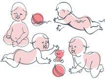 παιδιά μικρά διανυσματική απεικόνιση