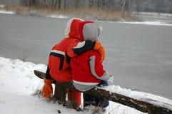 παιδιά πάγκων Στοκ φωτογραφία με δικαίωμα ελεύθερης χρήσης