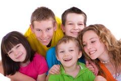 παιδιά πέντε που χαμογελούν Στοκ φωτογραφία με δικαίωμα ελεύθερης χρήσης