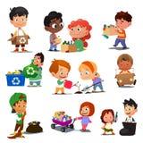 Παιδιά που ανακυκλώνουν την απεικόνιση Στοκ Φωτογραφίες