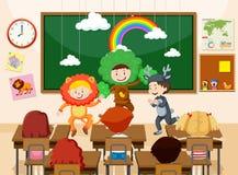 Παιδιά που αποδίδουν μπροστά από την κατηγορία απεικόνιση αποθεμάτων
