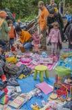 Παιδιά που απολαμβάνουν στο Vondelpark σε Kingsday Άμστερνταμ τις Κάτω Χώρες 2018 Στοκ φωτογραφία με δικαίωμα ελεύθερης χρήσης