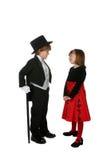παιδιά που ντύνουν τις χαρ& Στοκ Φωτογραφία
