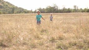Παιδιά που οργανώνονται πέρα από τον τομέα, σε αργή κίνηση απόθεμα βίντεο