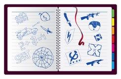 παιδιά που σύρουν τη σημεί&o Στοκ Φωτογραφίες