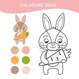 Παιδιά που χρωματίζουν το βιβλίο απεικόνιση αποθεμάτων