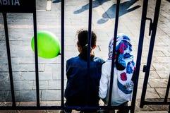 Παιδιά στην τέχνη εβδομάδας συνειδητοποίησης ανικανότητας και γεγονός λαογραφίας - Τουρκία Στοκ Εικόνες