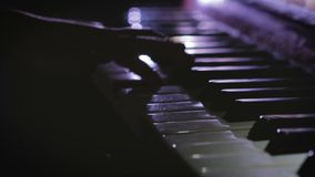 Παιδικά παιχνίδια το πιάνο απόθεμα βίντεο