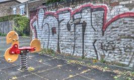 παιδική χαρά αστική Στοκ εικόνα με δικαίωμα ελεύθερης χρήσης